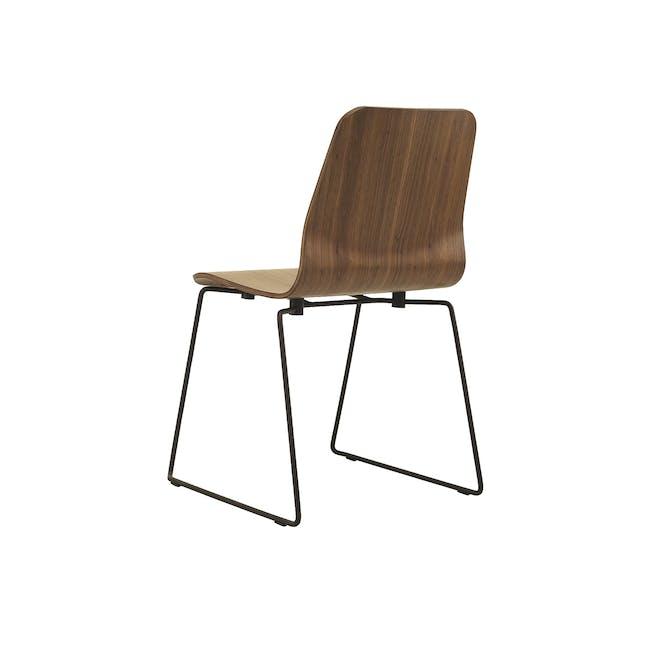 Bianca Dining Chair - Matt Black, Walnut - 3