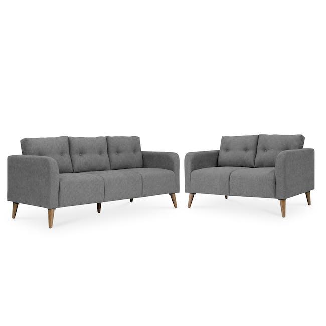 Bennett 3 Seater Sofa with Bennett 2 Seater Sofa - Gray Owl - 0