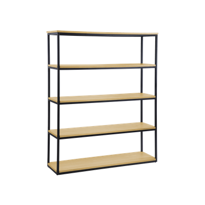 Brittany 5-Tier Shelf - Oak - Image 2
