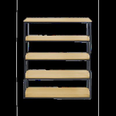 Brittany 5-Tier Shelf - Oak - Image 1