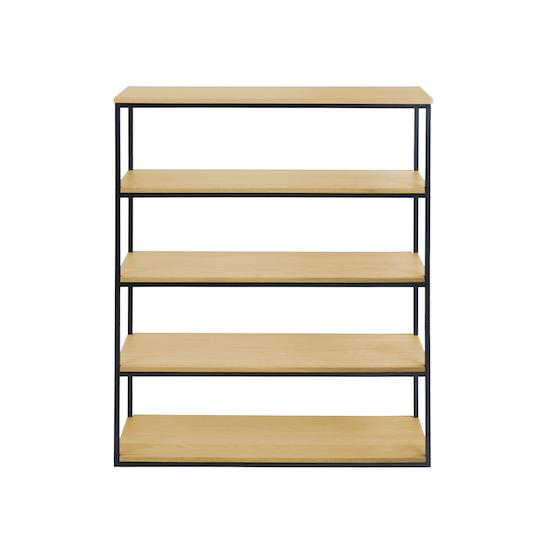 SourceByNet - Brittany 5-Tier Shelf - Oak