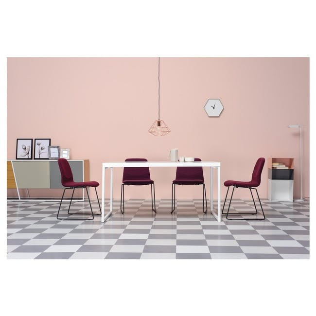 Bianca Dining Chair - Matt Black, Teal - 2