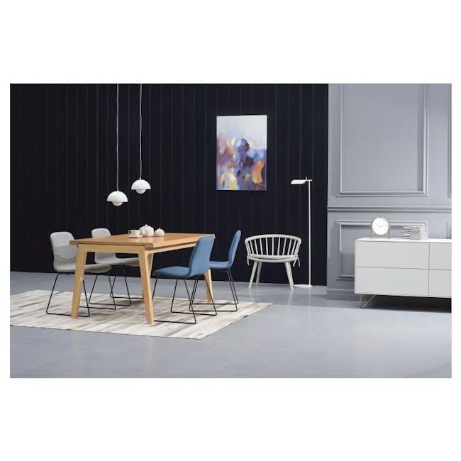 Bianca Dining Chair - Matt Black, Teal - 3
