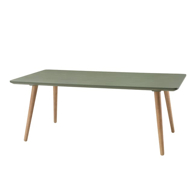 Carsyn Rectangular Coffee Table - Pickle Green - 0