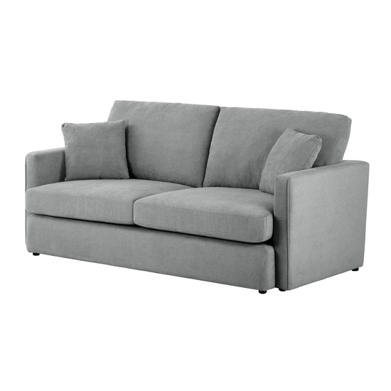 Ashley 3 Seater Sofa In Grey And Esther Lounge Chair In Yellow