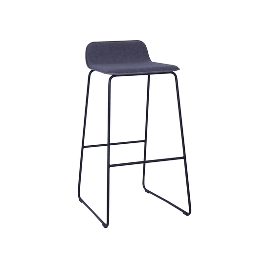 Helga - Scotia Bar Chair - Battleship Grey, Black
