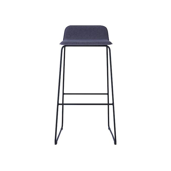 Scotia Bar Chair - Battleship Grey, Black - 1