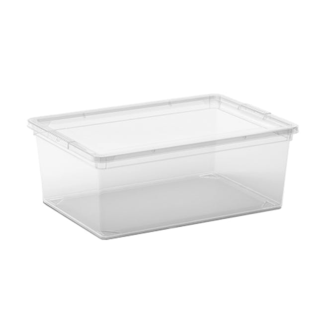 C Box Transparent with Lid - S - 0