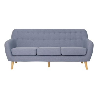 (As-is) Emma 3 Seater Sofa - Blue - 2 - Image 1