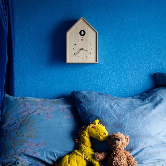 Birdhouse Clock - Natural - 2
