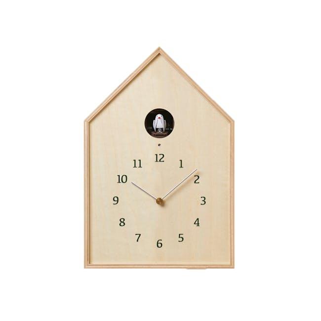 Birdhouse Clock - Natural - 0