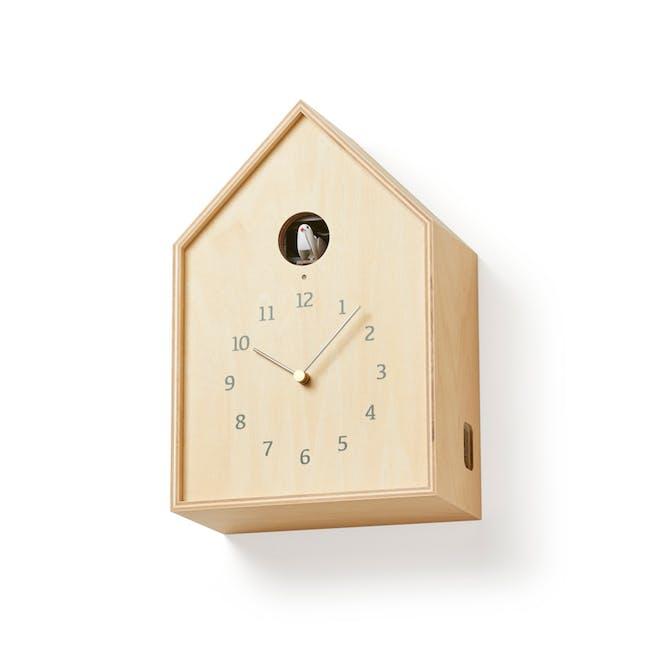 Birdhouse Clock - Natural - 1