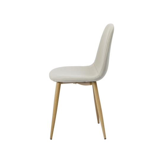 Glass and Metal - Fynn Dining Chair - Brushed Walnut, Silver