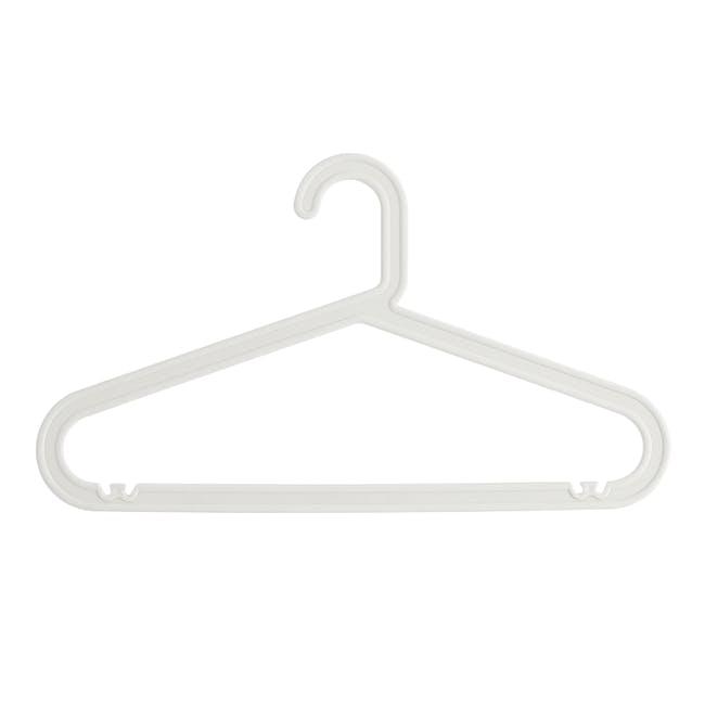 Zoe Plastic Hanger - White - 0