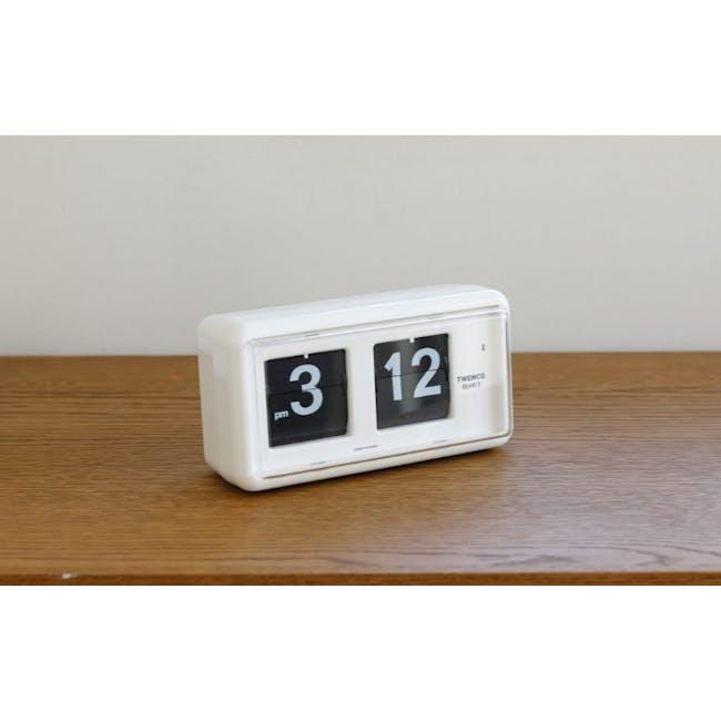 TWEMCO Table Clock - White - 6