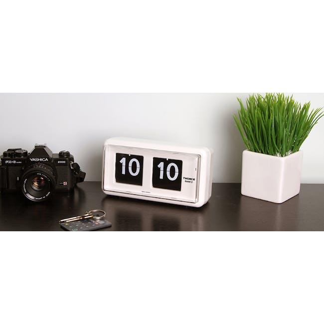 TWEMCO Table Clock - White - 5