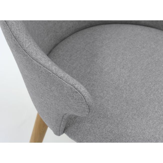 Runa Dining Armchair - Oak, Dolphin Grey - 7
