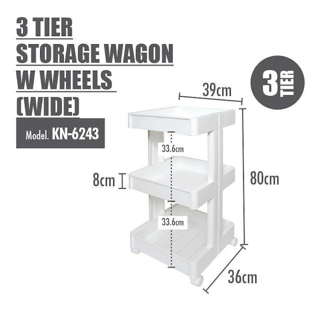 3 Tier Storage Wagon with Wheels - Wide - 1