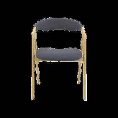 Ganit Dining Chair - Dim Grey, Oak - Image 2