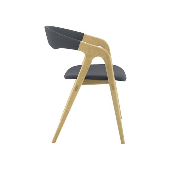 Helga - Ganit Dining Chair - Dim Grey, Oak