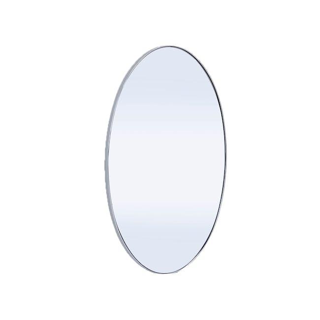Cyrus Oval Mirror 45 x 80 cm - Nickel - 0
