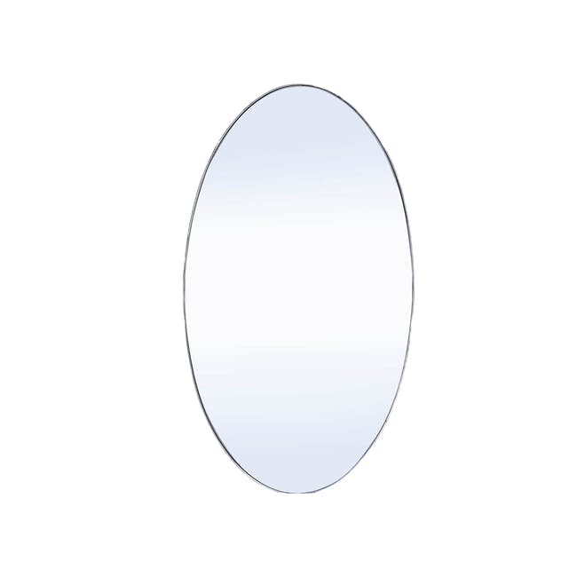 Cyrus Oval Mirror 45 x 80 cm - Nickel - 1