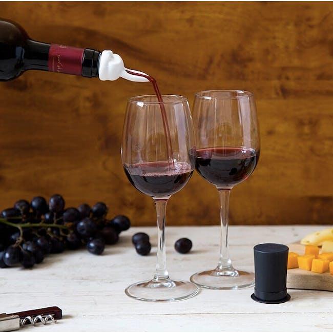 PELEG DESIGN Barney Wine Pourer and Stopper Set - 4