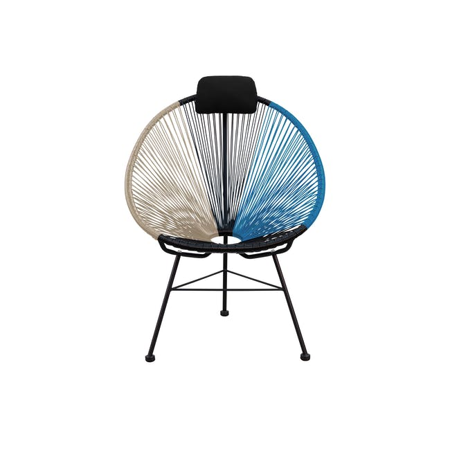 Acapulco Lounge Chair - Taupe, Black, Blue - 0