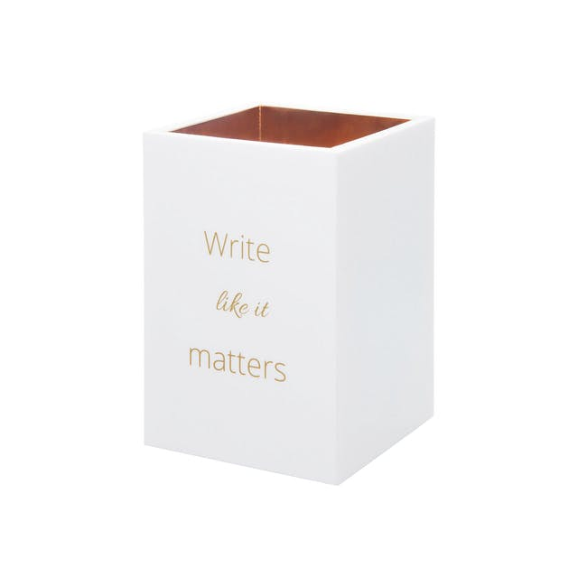 Acrylic Pen Holder - Write Like It Matters - 0