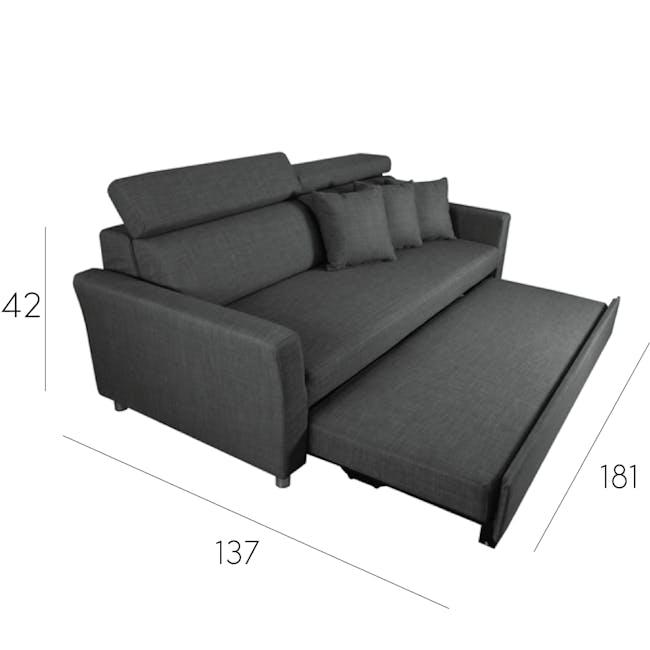 Bowen 3 Seater Sofa Bed - Grey - 9