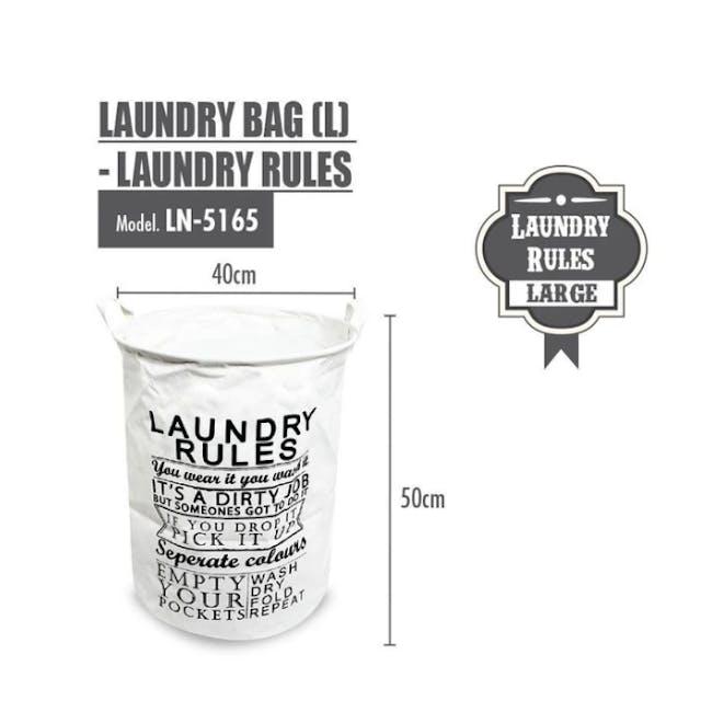 HOUZE Laundry Bag - Laundry Rules - 1
