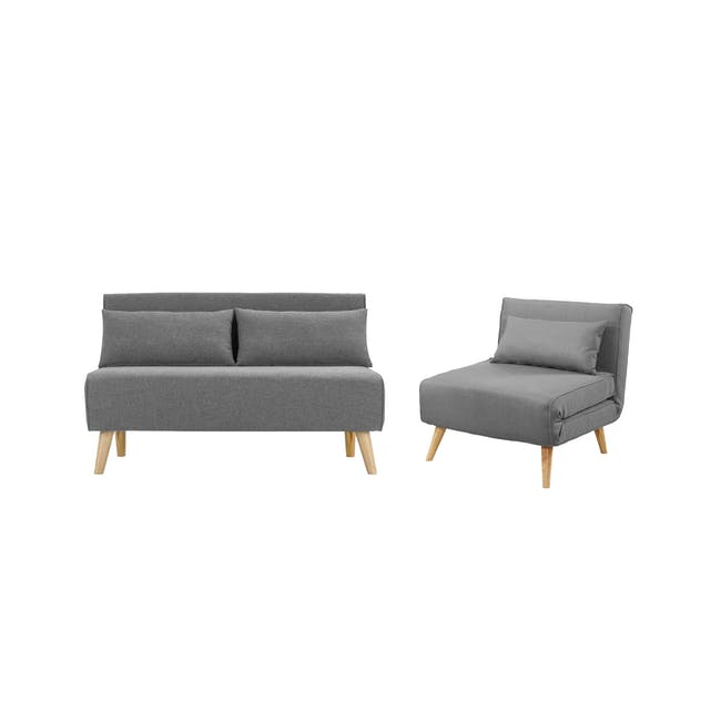 Noel 2 Seater Sofa Bed with Noel Sofa Bed - Harbour Grey - 0