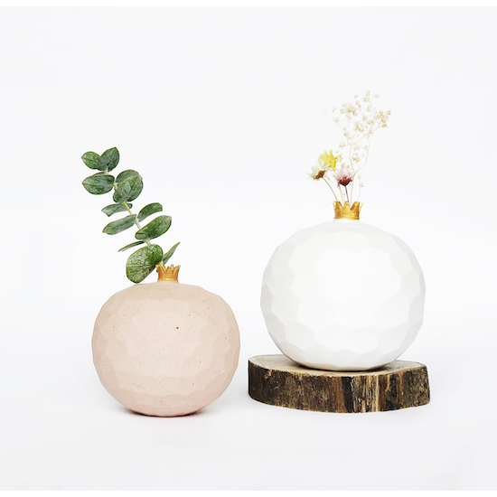 oh!eaf - Pomegranate Mini Vase - Matt White