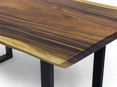 Frank Solid Suar Live Edge Dining Table - 1.8m - Image 2