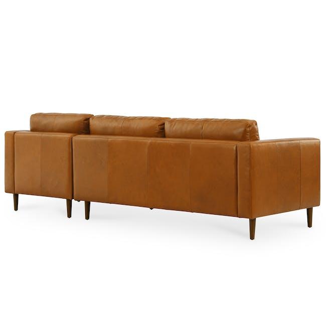 Nolan L-Shaped Sofa - Cigar (Premium Waxed Leather) - 3