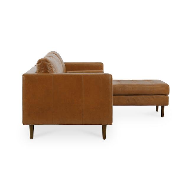 Nolan L-Shaped Sofa - Cigar (Premium Waxed Leather) - 4