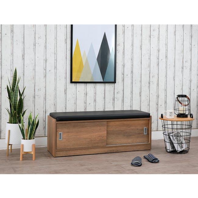 Echo Shoe Cabinet - Walnut - 6