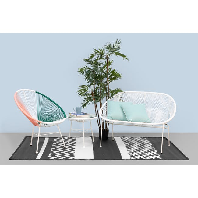 Acapulco Lounge Chair - Pink, White, Green Mix - 1