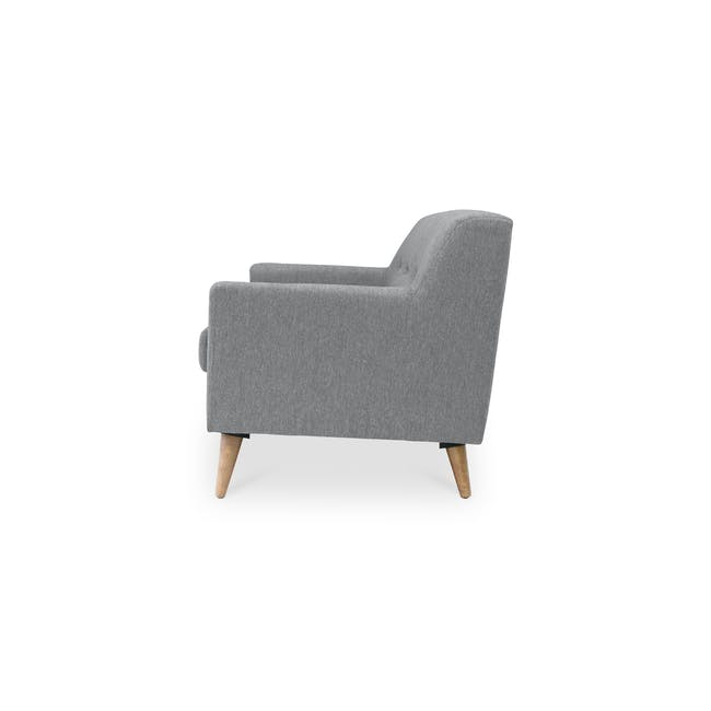 Damien 3 Seater Sofa - Heather Grey - 4