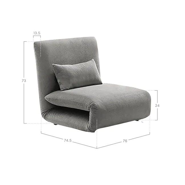 Ayla Sofa Bed - Graphite - 9