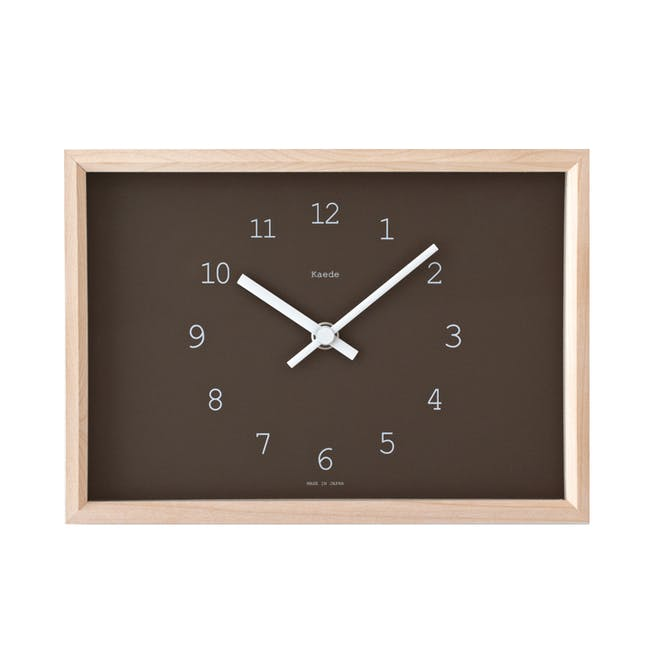 Kaede Clock - Brown - 0