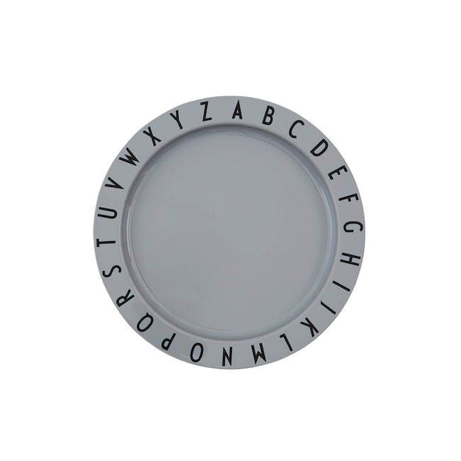 Eat & Learn plate tritan - Grey - 0