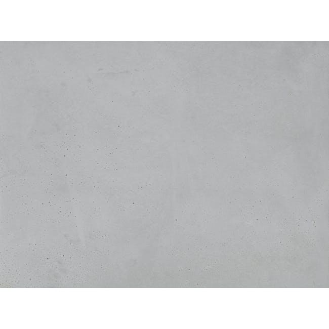 Square Concrete Pot with Saucer - Large - 1