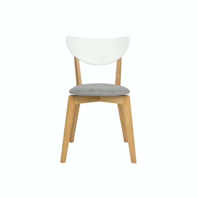 (As-is) Harold Dining Chair - Natural, Dolphin Grey - 1 - 12