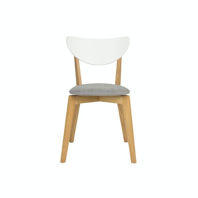 Harold Dining Chair - Natural, Dolphin Grey - 2