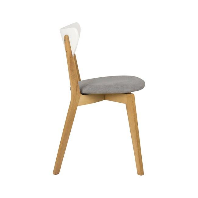 Harold Dining Chair - Natural, Dolphin Grey - 1
