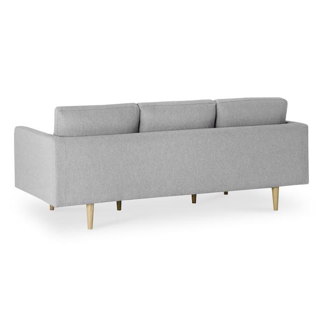 Declan 3 Seater Sofa - Oak, Ash Grey - 4