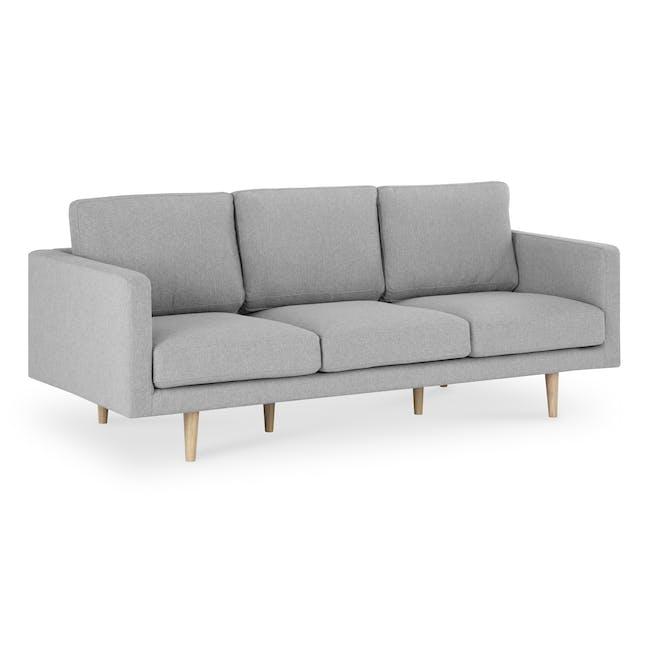Declan 3 Seater Sofa - Oak, Ash Grey - 2