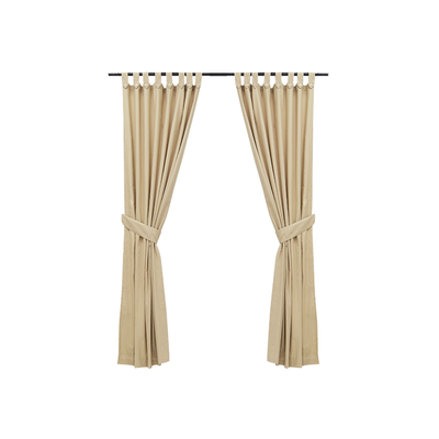 Reysha Cotton Curtain (Set of 2) - Beige