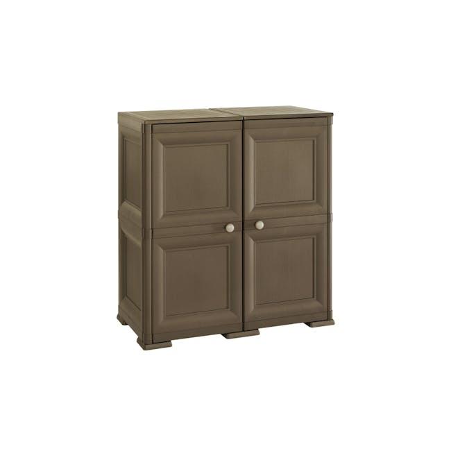 Omnimodus 8 Shelves Shoe Cabinet - Wood Brown - 0